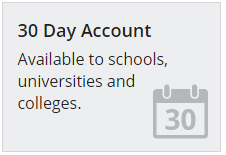 30 Day Credit Account for Schools, Universities and Colleges